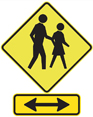 Pedestrian crossing ahead - see page text for details