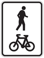 Shared pathway - see page text for details