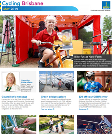 Cycling Brisbane enewsletter