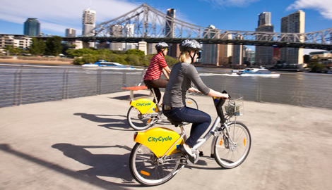 Two people on CityCycle