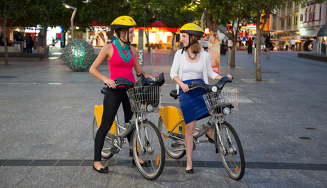 People on CityCycles