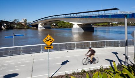 Riverside bikeway